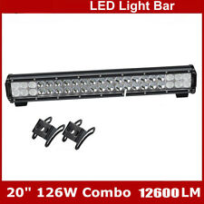 "20""IN 126W  Led Light Bar Flood Spot Work Driving Offroad For 4WD Truck Atv UtE"