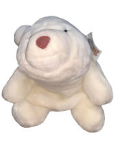 "Vintage 1980 Gund Snuffles White Polar Bear Brown Nose 11"" Stuffed Plush Animal"