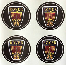 4 x Wheel stickers fits ROVER 70 mm center badge centre trim cap hub alloy