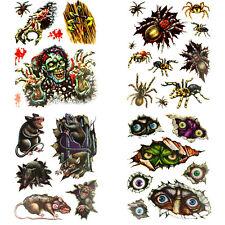 Fiesta de Halloween decoraciones de ventana Stickers ojos ratas Araña Zombie Miedo ojos