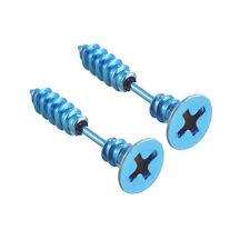 2 Pcs Unisex Punk Stainless Steel Screw Ear Studs Women Men Earrings Jewelry