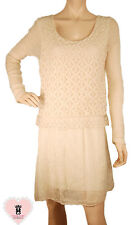 Made in Italy - abg132 - Beige Fitted Lace Dress