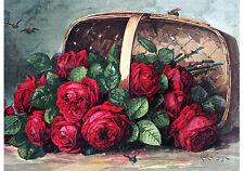 Basket of Beauties by Paul de Longpre (Art Print of Vintage Art) (24 x 15)