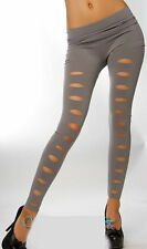 SeXy Miss Damen Girly Hüft Leggings Retro Risse style 34/36/38 Freesize grau NEU