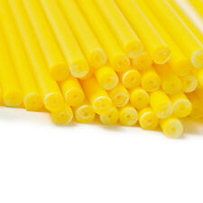 x50 150mm x 4.5 Yellow Coloured Plastic Lollipop Lolly Cake Pop Sticks Crafts