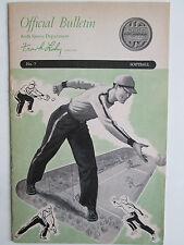 Softball..Official Bulletin Keds Sports No. 7..Pitching, Batting, Base Running