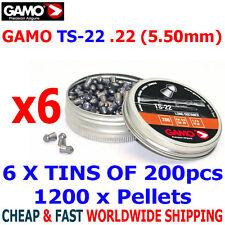 GAMO TS-22 .22 Airgun Pellets 6(tins)x200pcs