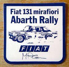 Fiat 131 Mirafiori Abarth Markku Alen Rally Motorsport Sticker / Decal