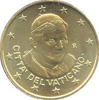 50 Centavos Vaticano 2013 Fior De Acuñación Rara Vaticano Vatikan L'Último