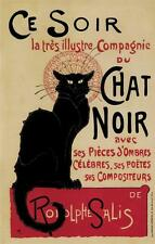 ART DECO CHAT NOIR REPRODUCTION VINTAGE STYLE A3 ADVERTISING POSTER NEW