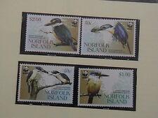2004 NORFOLK ISLAND MARTIN PESCATORE W.W.F. 4 VALORI FRANCOBOLLI