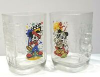 Walt Disney World 2000 Celebration Mickey Mouse McDonalds Glass Tumblers Lot