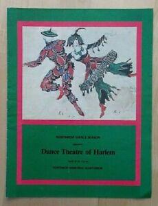 Dance Theatre Of Harlem programme Northrop D Season University of Minnesota 1985