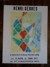 Maquette originale affiche, Huile/Gouache1972 Henri Serres (Bld Du Montparnasse)