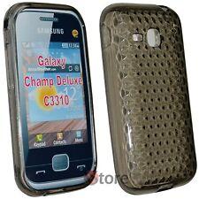 Cover Custodia Per Samsung Champ Deluxe C3310 Nero Gel Silcone TPU