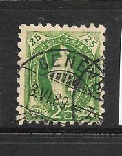 SWITZERLAND 1882-03  25c  HELVETIA    FU P9 1/2   SG 141