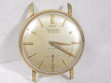 Vintage WALTHAM 17 Jewel Wind Mens Wrist Watch Model HS Parts Repair Gold Plated