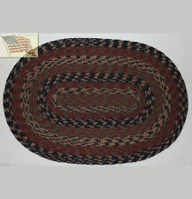 braided trivet candle mat table place mat runner CHECKER BOARD oval cotton 13x19