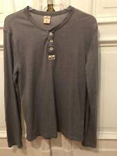 Hollister cooles Langarm T-Shirt T Shirt Gr. M Grau 58% Baumwolle 42% Polyester