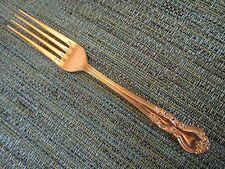DINNER FORK! Vintage NASCO stainless: GOLD ELIZABETHAN II pattern: EXCELLENT!
