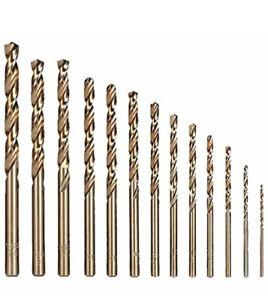 Hymnorq 13PC Metric M35 Grade Cobalt Steel Twist Drill Bits - New