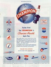 ORIGINAL 1949 AMERICAN MAGAZINE MOTORING ADVERT FOR CHAMPION SPARK PLUGS  b194