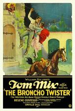 THE BRONCHO TWISTER Movie POSTER 27x40 Tom Mix Tony the Horse Helene Costello