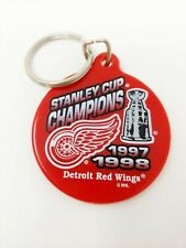 Detroit Red Wings Keychain 1997 1998 Champions Key Ring Vintage Stanley Cup
