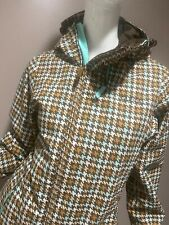 Burton Women's S DryRide Ski Snowboard Jacket Brown Blue Hounds Tooth Small