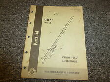 Gardner Denver RMEAT Chain Feed Mountings Parts Catalog Manual Book