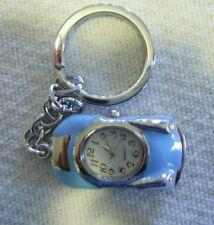BLUE CAR Clip On Pocket Watch Montre Attache AUTO Bleu