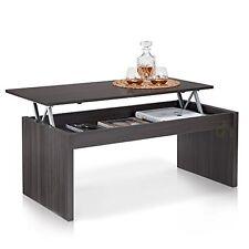 Leola Coffee Tea Table Lift Up Top Hidden Storage TV Dinner Table Grey Ash