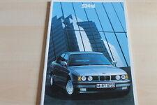 100490) BMW 5er Reihe E34 524td Prospekt 01/1989