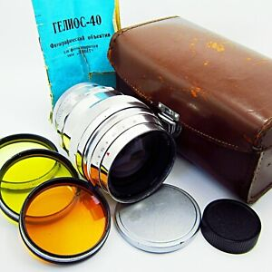 Early HELIOS-40 f1.5/85mm logo KMZ - SERVICED - MADE in USSR-1962 year №621362