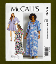 Fitted V-Neck Wrap Dresses Sewing Pattern (Plus Sizes 18W-24W) McCalls 7743