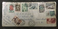 1957 Antananarivo French Madagascar Airmail Cover To Manchester CN Usa