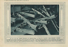 WW1 Print German Cross Bows For Grenade Flinging Found In Trench Workshop 1916