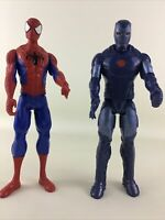 "Marvel Titan Super Hero 12"" Figure Lot Spider-Man Stealth Iron Man Avengers Toy"