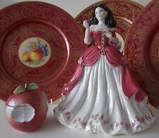 Rare Coalport Snow White Figurine & Apple Trinket Pot Romany not worcester