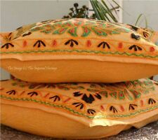 "Christmas Gift Suzani 16"" Embroidered Pair Bed Pillow Case Cushion Cover"