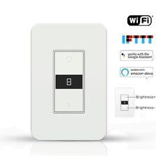 KS-7011 US Style 125*80 Smart Wall Dimmer Switch LED Light for For Alexa Google
