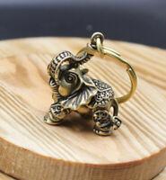 Solid Brass Elephant Keychain Pendant Bag Pendant Car DIY Key Pendant