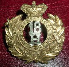 CAP BADGES-ORIGINAL VICTORIAN/QVC 18th HUSSARS NICE BADGE