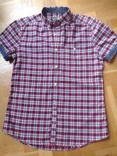 Next Button Down Check Short Sleeve Men's Casual Shirts & Tops