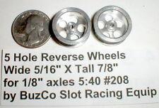 "5 Hole Wheels Mags 1 Pr #208 by Buzco NOS Slot Car 5/16"" X 7/8"" 1/24th"