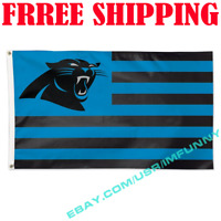 Deluxe Carolina Panthers USA Stars Stripe Flag Banner 3x5 ft NFL 2019 Fan Gift