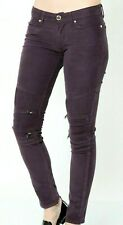 NEW LEVI'S Biker Skinny JEANS W27 L32 uk 8-10 women Ladies plum corduroy stretch