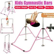 Horizontal Bar Junior Kids Training Bar Gymnastics Indoor Sports Adjustable Blue