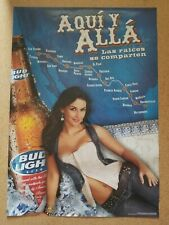 Bud Light Mexico Sexy Girl beer poster Nos