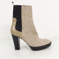 HOGAN Damen Stiefel Absatz beige Gr. EUR 37 Wildleder Shoes Leather